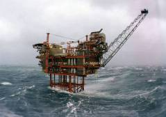 storm in the north sea