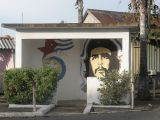 che guevara mural bus shelter pinar del rio province cuba by roadsofstone