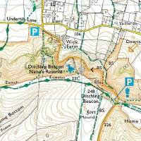 ditchling beacon climb sussex england streetmap co uk