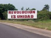 revolucion es unidad roadsign peninsula zapata bay of pigs cuba by roadsofstone
