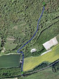 white down climb abinger hammer surrey england climb google maps satellite view