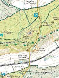 white down climb abinger hammer surrey england streetmap co uk