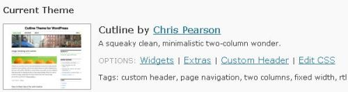 cutline theme for wordpress com by chris pearson