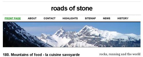 roads of stone front page with custom header image by roadsofstone