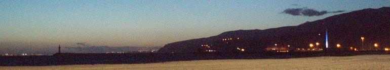 winter nightfall in almeria spain by roadsofstone