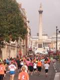 approaching trafalgar square royal parks half marathon london 2010 by roadsofstone