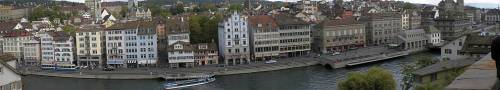 october panorama on the river limmat zürich switzerland by roadsofstone