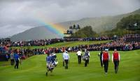 rainbow sky ryder cup 2010 celtic manor wales day 3 visitwales com