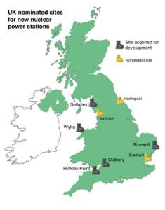 UK nominated sites for new nuclear power stations 2011 nuclear amrc