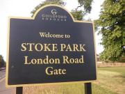 stoke park london road gate guildford england by roadsofstone