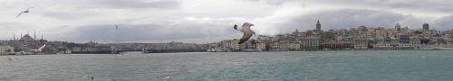 ferry across the bosphorus leaving istanbul turkey by roadsofstone
