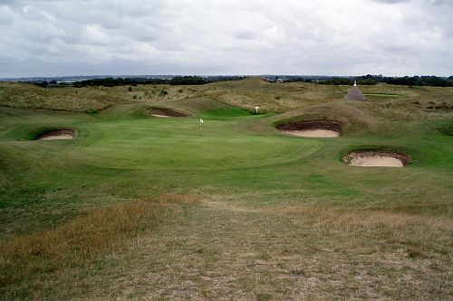 the maiden 6th hole royal st georges sandwich england by roadsofstone