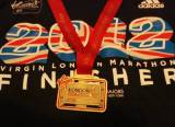 london marathon 2012 medal and finisher tee shirt justploditcom
